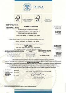 Certificado FSC Cartonifício Valinhos